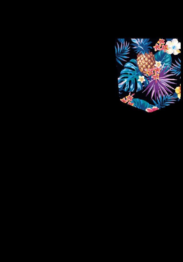 maglietta Taschino Hawaii