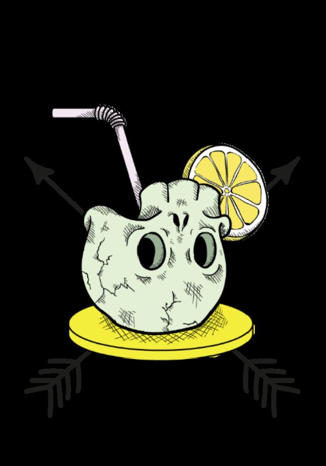 maglietta skullcocktail