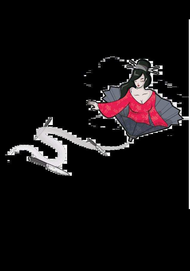 maglietta geisha