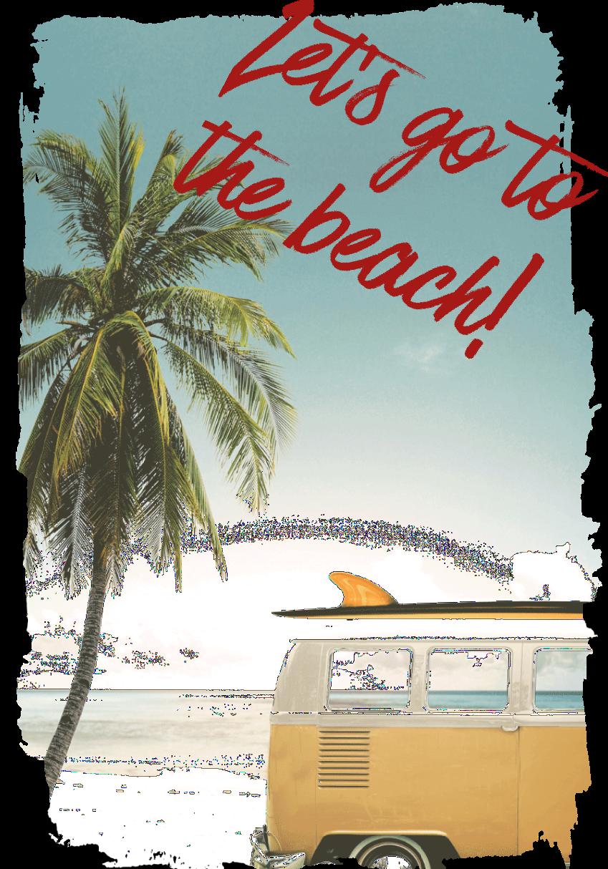 maglietta Let's go to the beach!