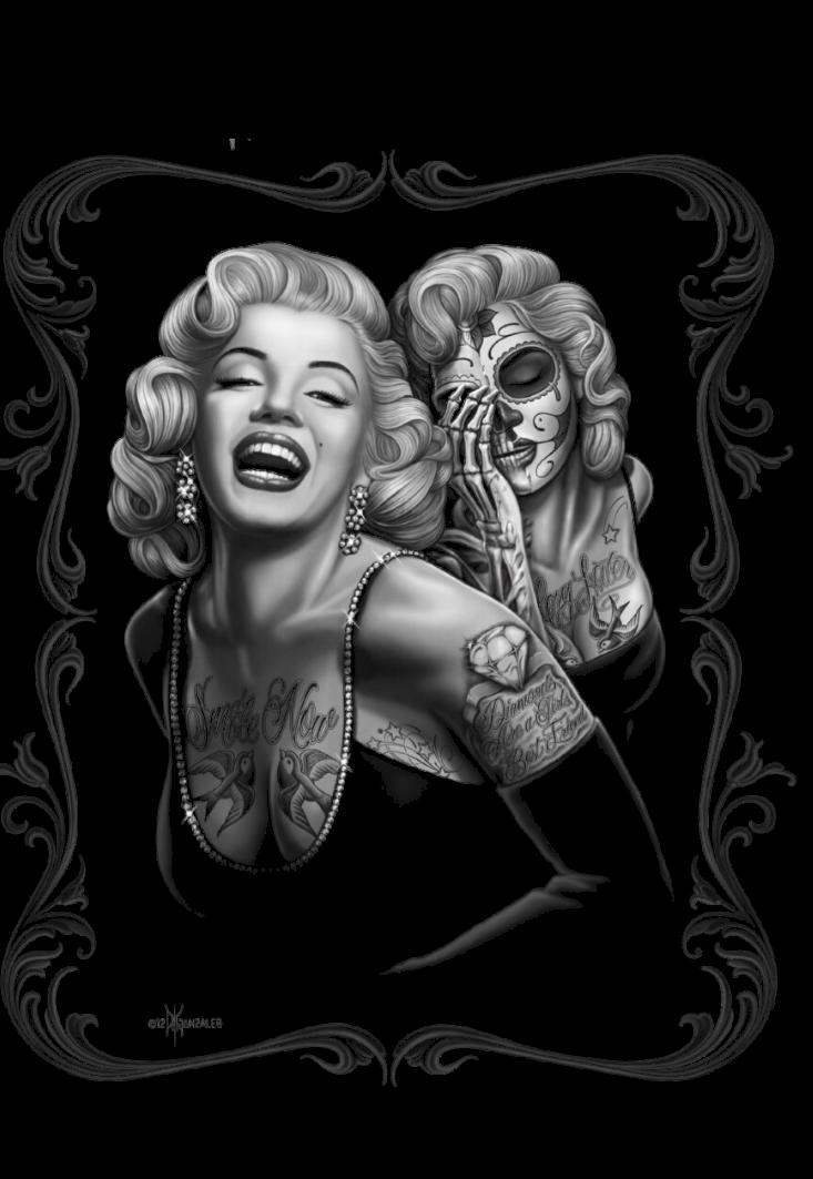 maglietta Chicana Skull