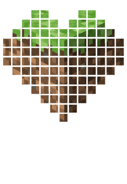maglietta I love minecraft