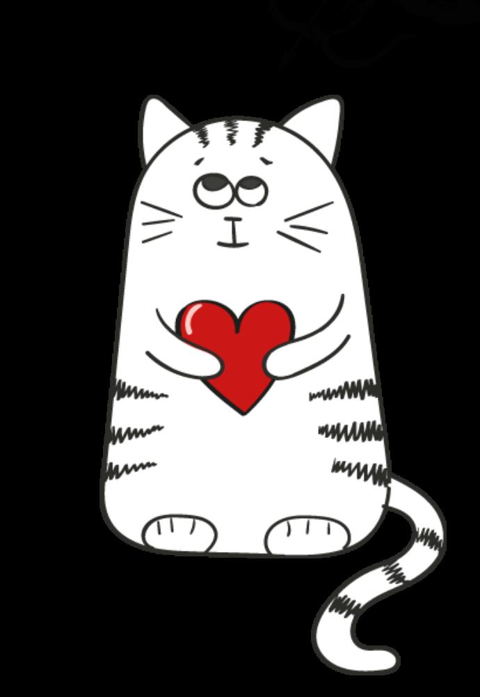 maglietta i love cat