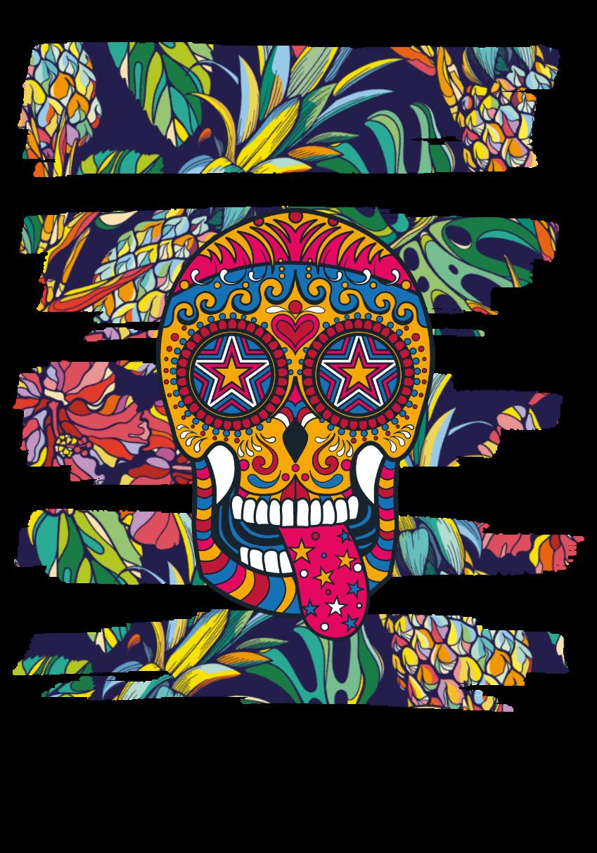 maglietta t-shirt pineapple multicolor