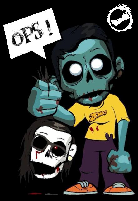 maglietta zomboy -> he died