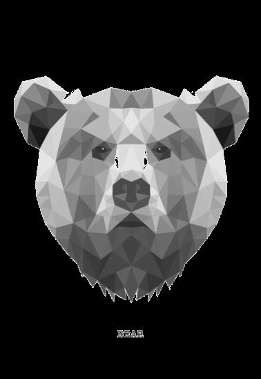 maglietta Bear geometric