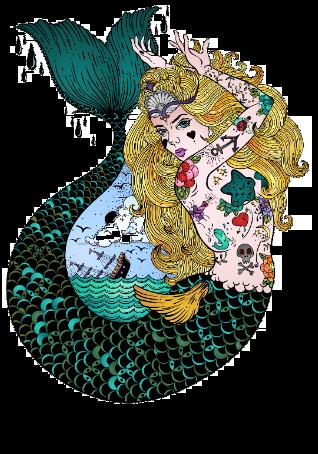 maglietta sirena