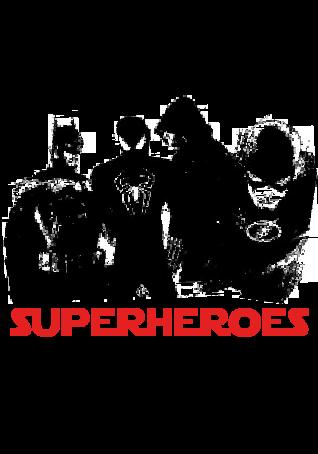 maglietta superheroes