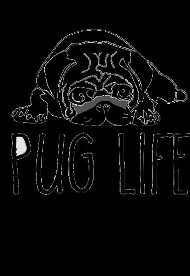 maglietta pug life