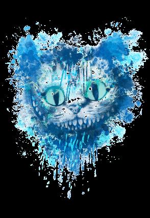 maglietta Il gatto del Cheshire