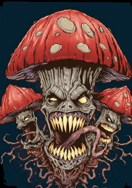 maglietta mushroom evil
