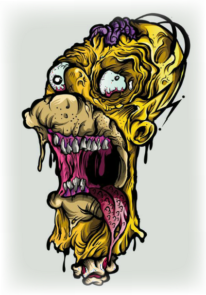 maglietta homer zombie