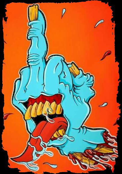 maglietta hand zombie