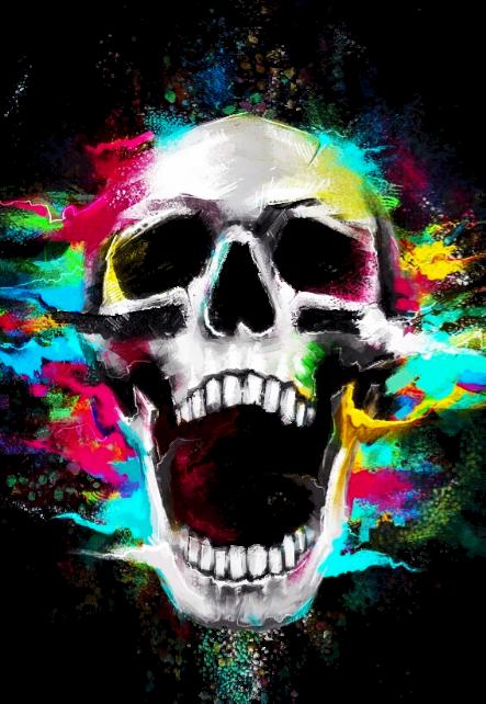 maglietta Colors Skull