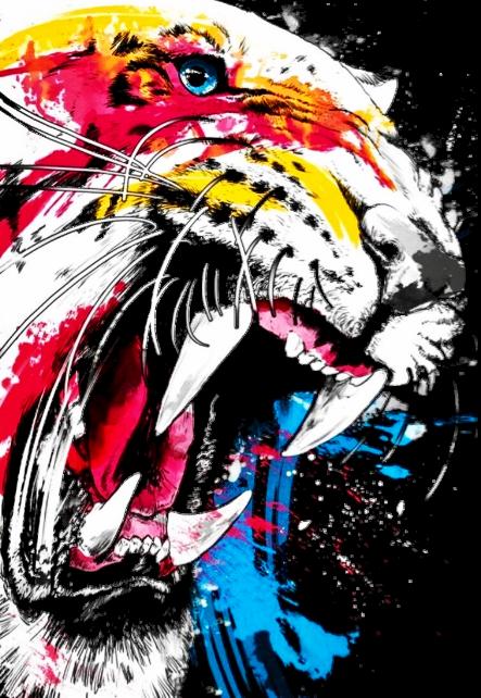 maglietta tiger power