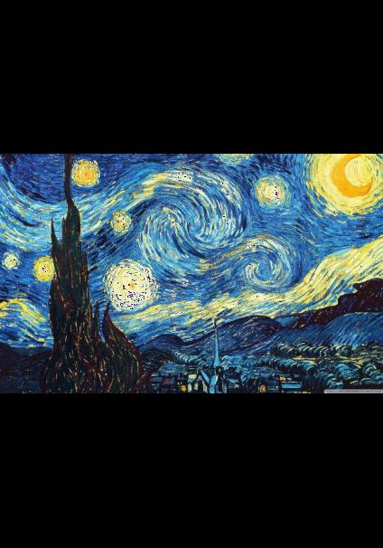 maglietta LA NOTTE STELLATA di Van Gogh