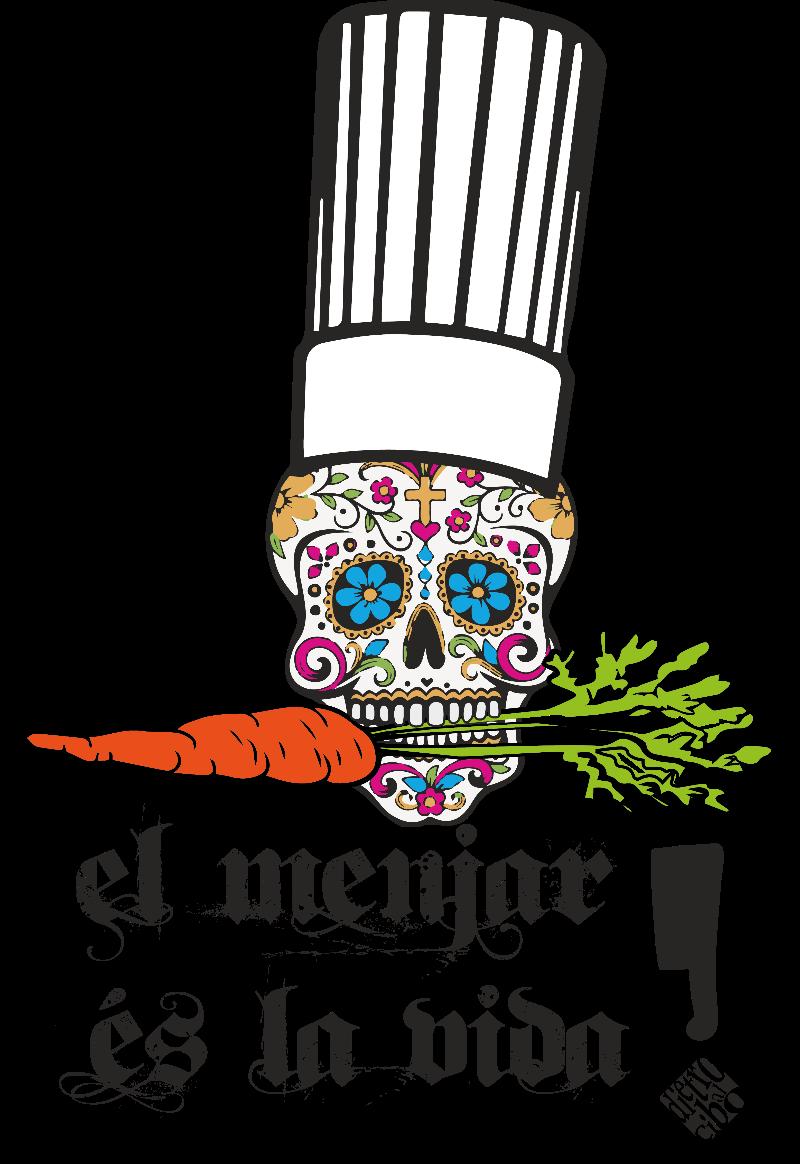 maglietta Veg Skull Chef