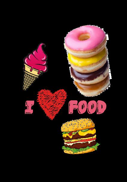 maglietta I Love food