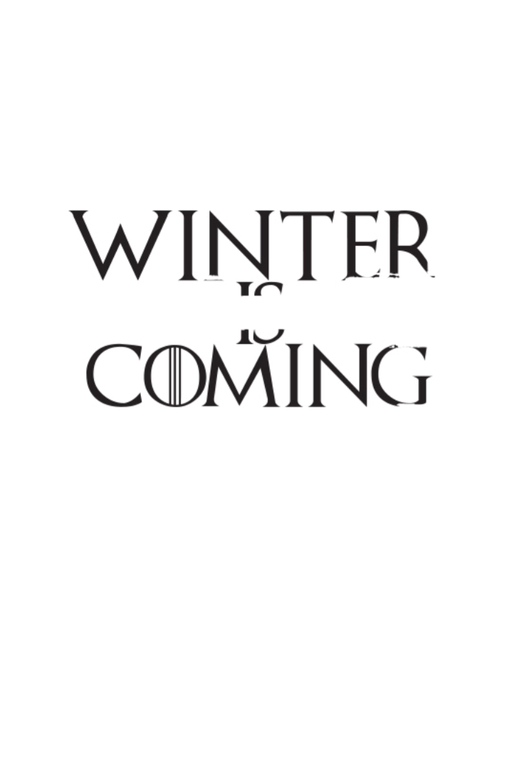 maglietta game of thrones - winter is coming
