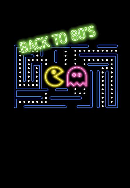 maglietta Pacman Neon
