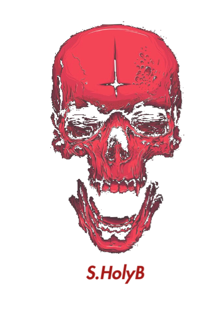 maglietta red skull
