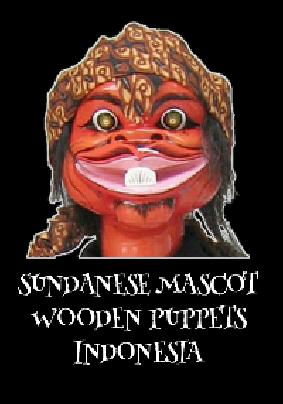 maglietta sundanese mascot wooden puppets indonesia