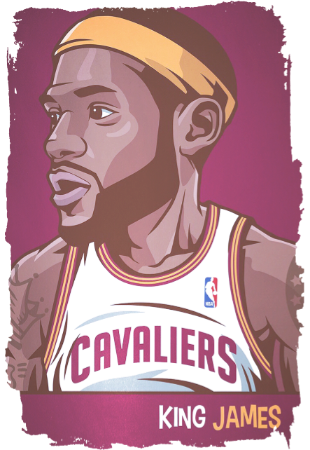 maglietta Lebron James Cartoon