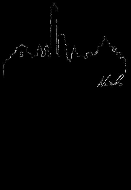maglietta bologna's skyline