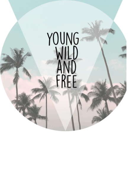 maglietta young wild and free
