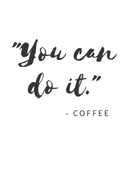 maglietta you can do it -coffee