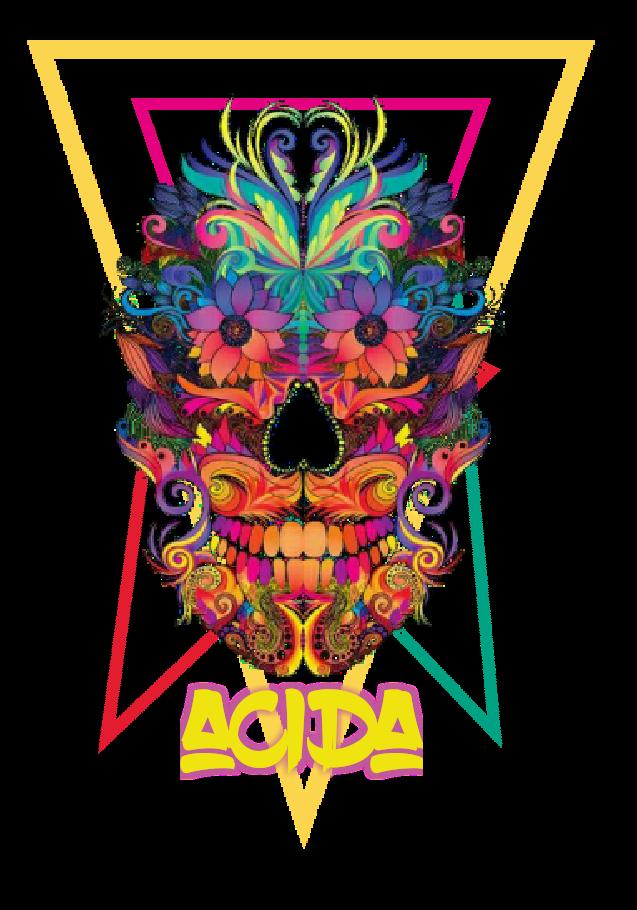 maglietta acidaSkull