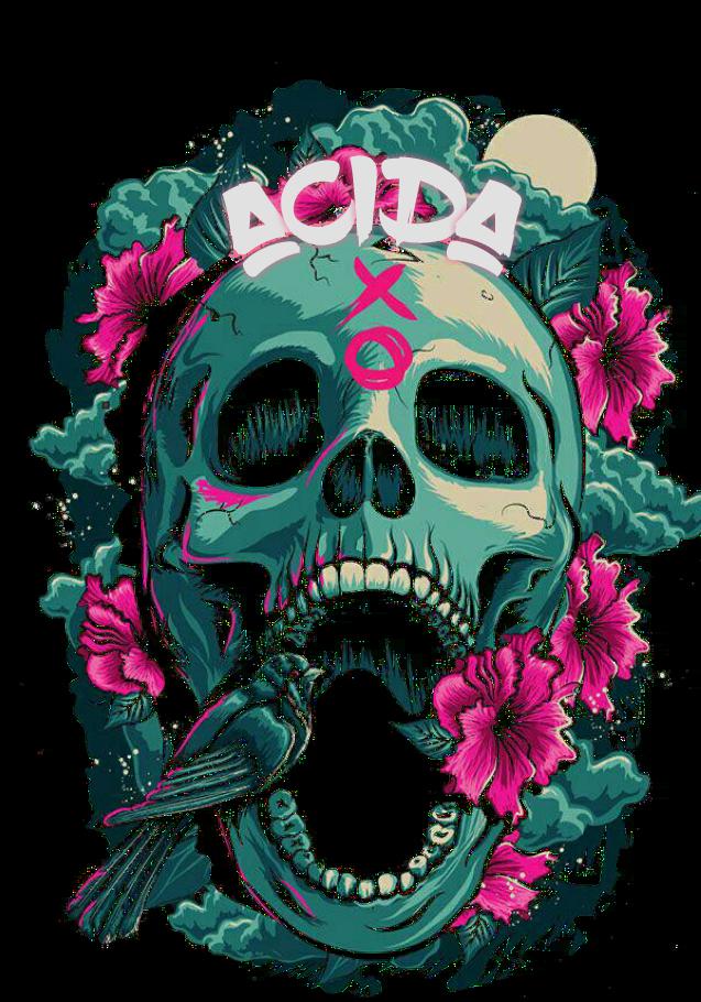 maglietta skullAcida