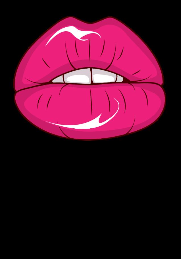 maglietta pinklipstick