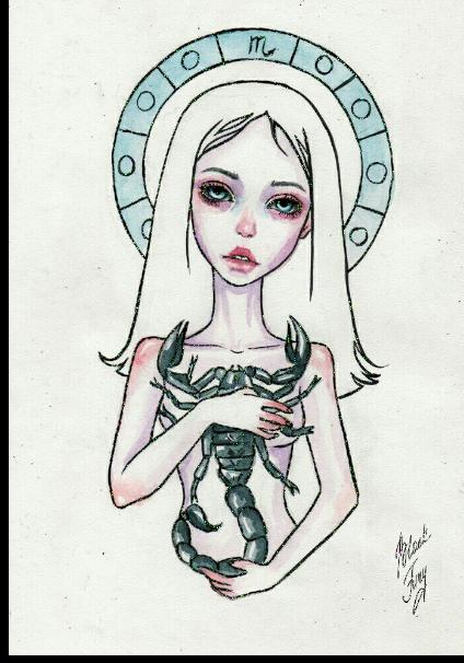 maglietta Scorpio Zodiac art Hoodie