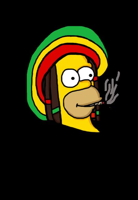 maglietta Stoned Simpson