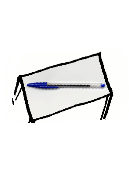 maglietta The pen is on the table