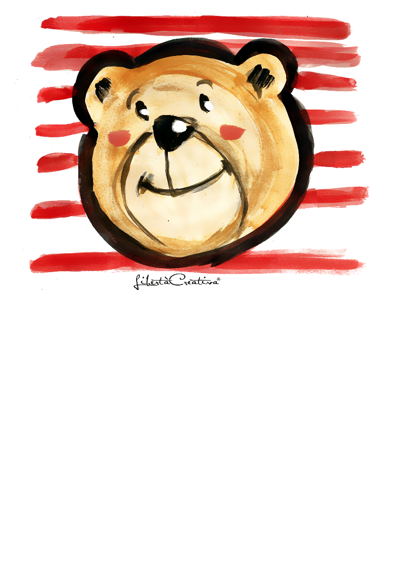 maglietta orso smile