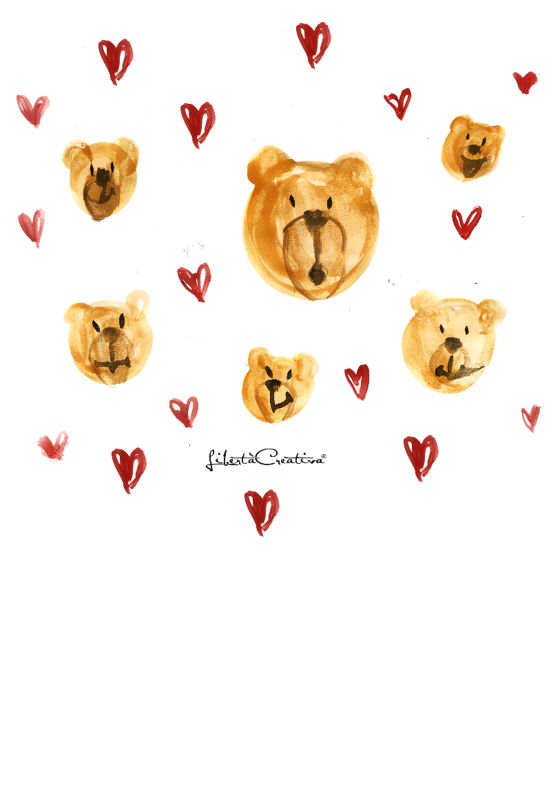 maglietta orso love