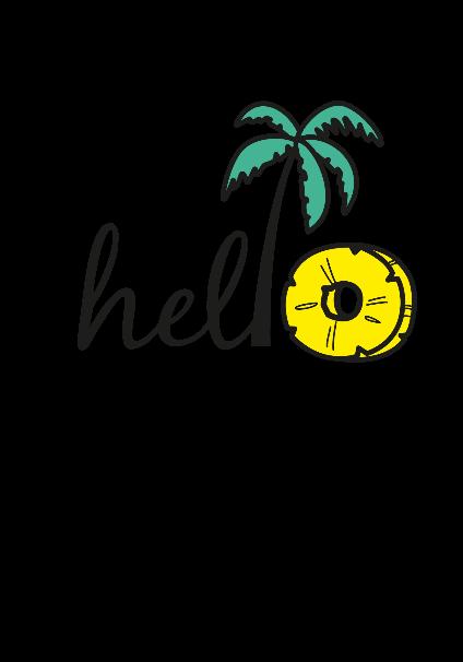 maglietta Hello summer