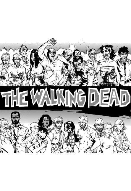 maglietta the walking dead
