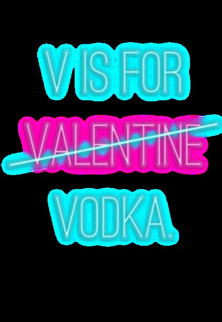 maglietta valentine vodka