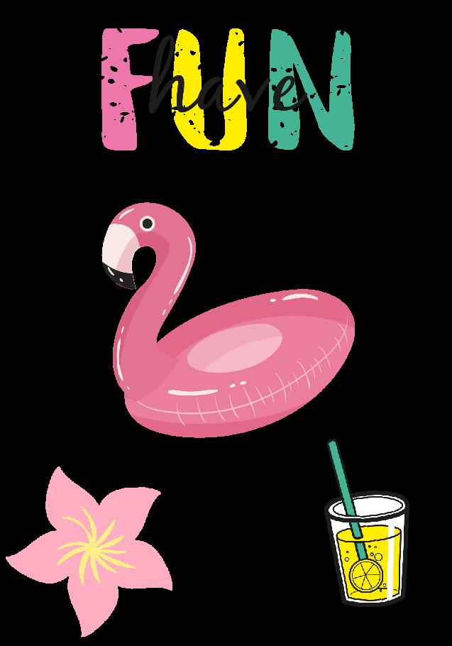 maglietta Summer Flamingo