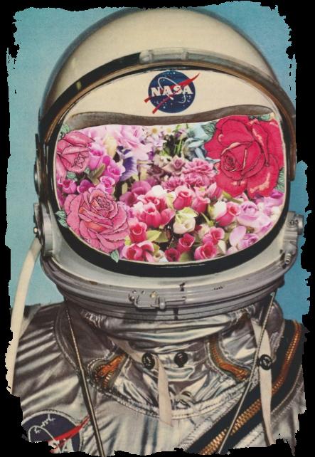 maglietta astronauta