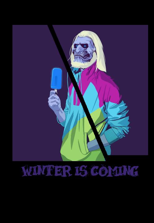 maglietta Winter is coming.