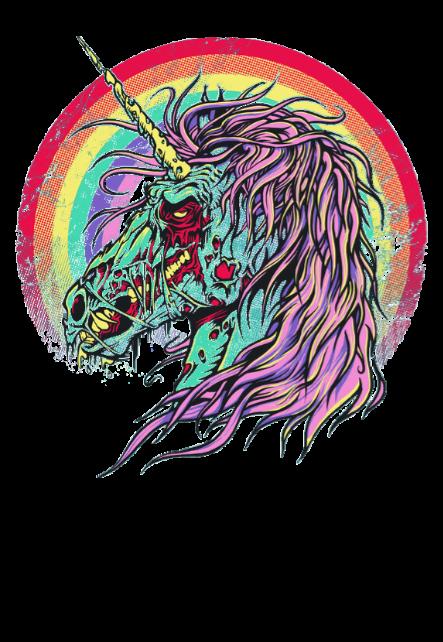 maglietta unicorn zombie 3