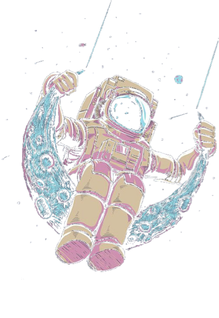 maglietta man in space