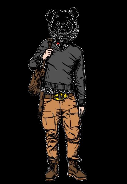 maglietta maglia uomo/donna 'panda'