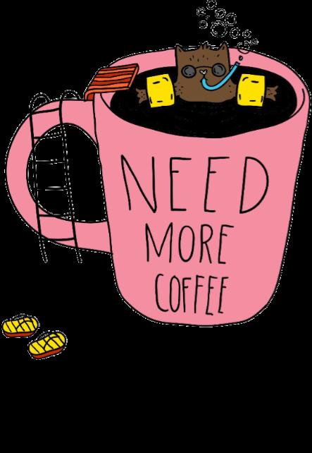 maglietta maglia donna 'need more coffee'