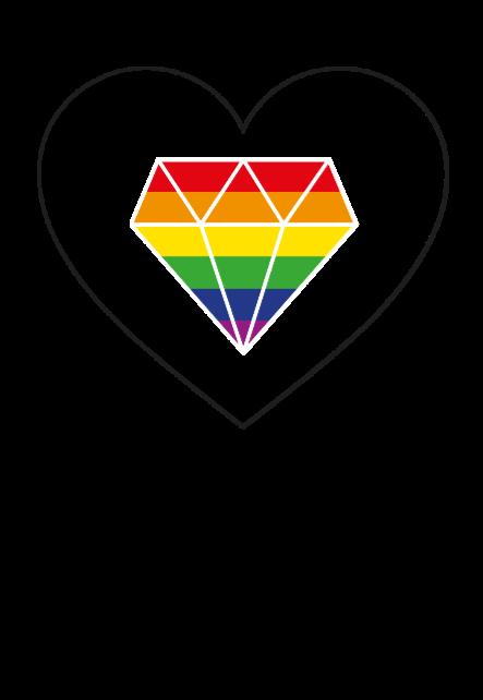 maglietta Diamond Heart