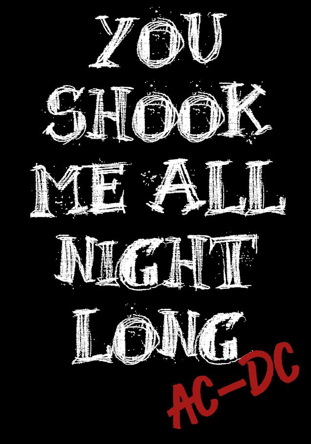 maglietta AC DC 'You Shook Me All Night Long'